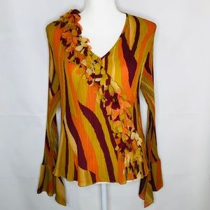 Milano Multicolores Blouse Tiered Bell Cuffs